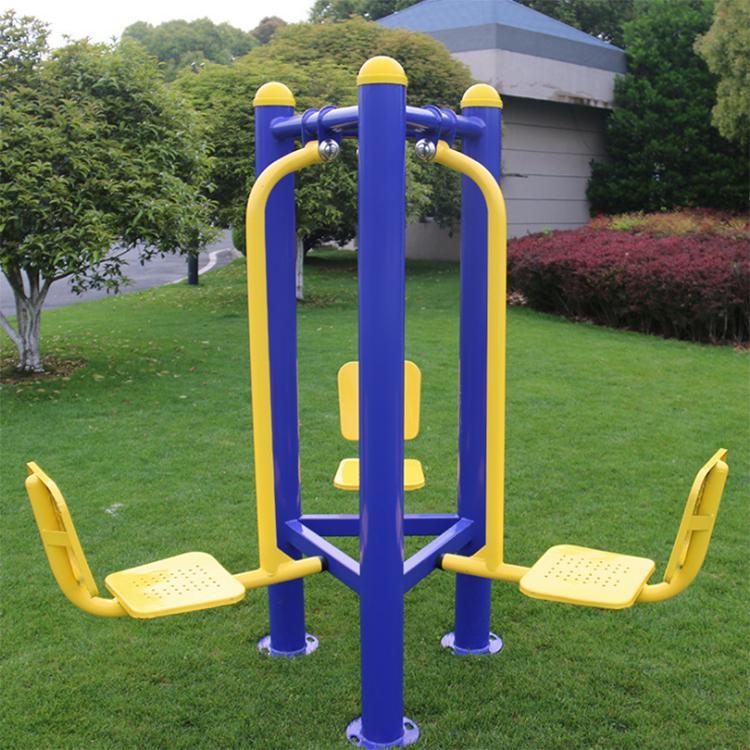 冠龙文体厂家生产 公园小区健身用品 双人坐蹬室外健身器材 蹬力器