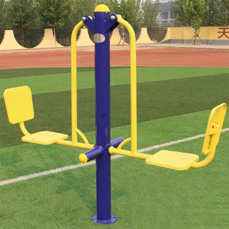 冠龙文体厂家直销 广场小区健身器材 双人坐蹬室外健身路径 蹬力器 品质保障
