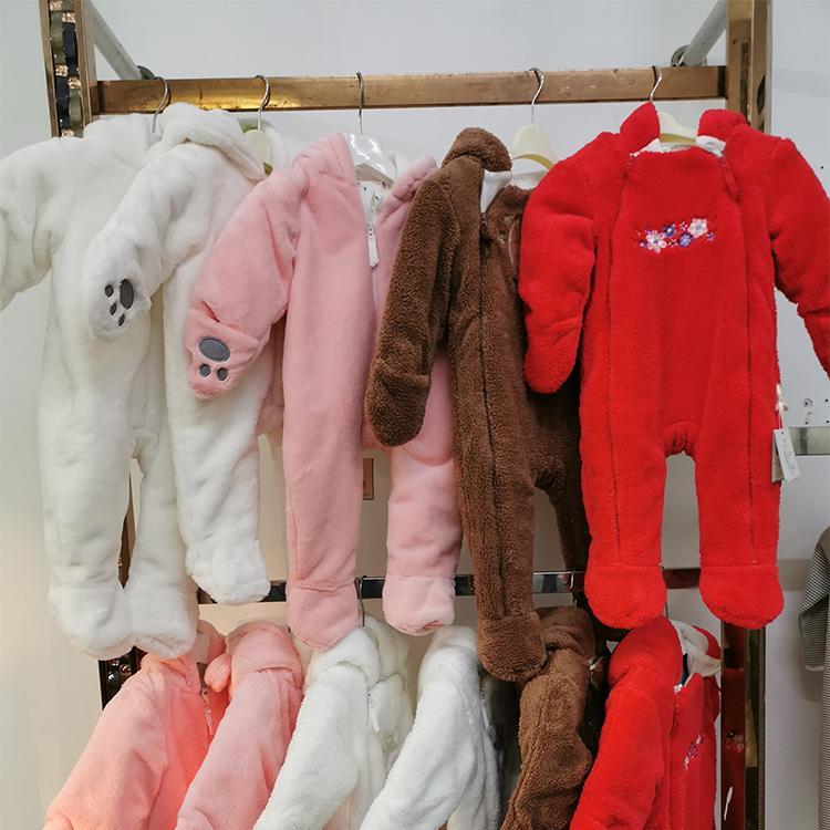婴儿衣服冬季 新生儿外出连体衣0-1岁男女宝宝爬服抱衣秋冬季莱薇亚厂家批发