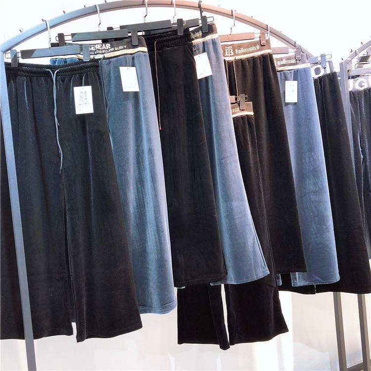 2020春新款女装百惠拖地裤 品牌女装折扣 专柜库存尾货 厂家直销批发 糖果女孩2020春