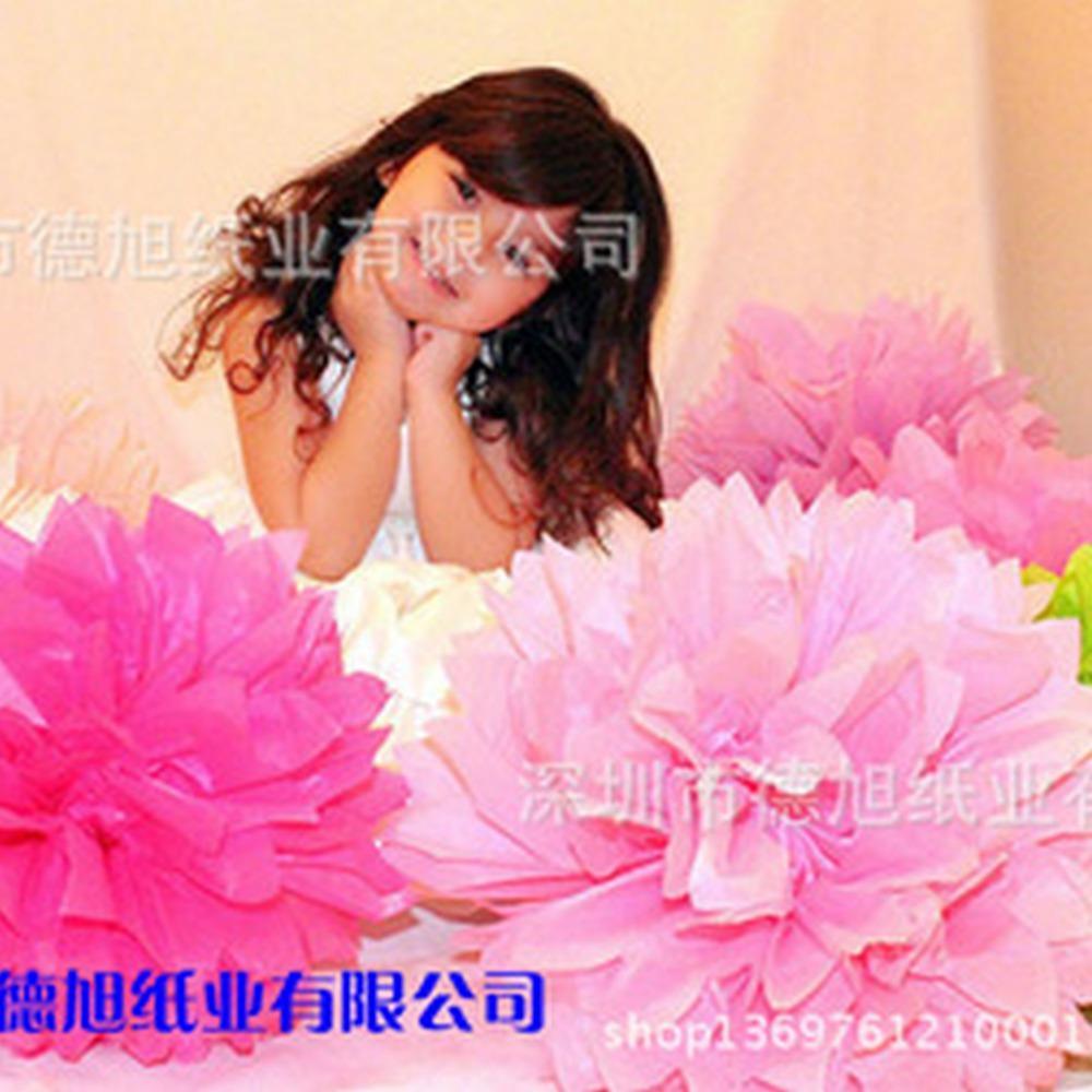 婚庆用品 欧洲流行婚礼装饰拉花纸花球 结婚装饰