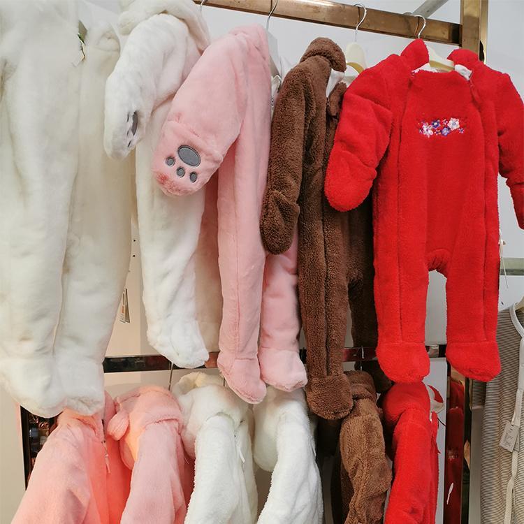 初生婴儿冬季纯棉加厚连体衣男女宝宝手工连体套装婴儿外穿保暖衣