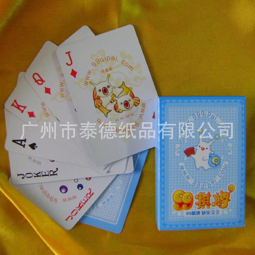 泰德广州厂家塑料防水高档动漫扑克牌 广告宣传扑克牌