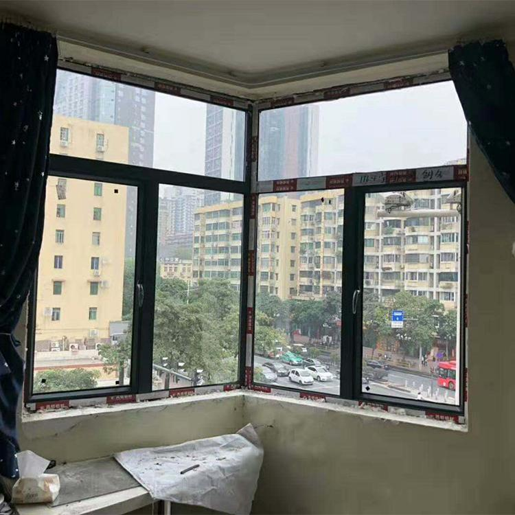 断桥铝合金平开窗 甲级乙级家用防火窗 铝合金平开窗 万德居免费安装