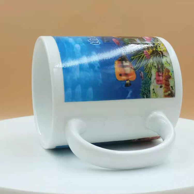 陶瓷影像杯 陶瓷海洋马克杯 创意杯子定制 卡通马克杯 一件代发
