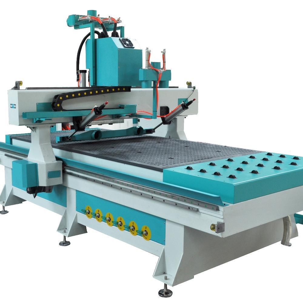 豪刻数控全自动数控加工中心 木工雕刻机 木门 橱柜雕刻机 四工序开料机厂家直销