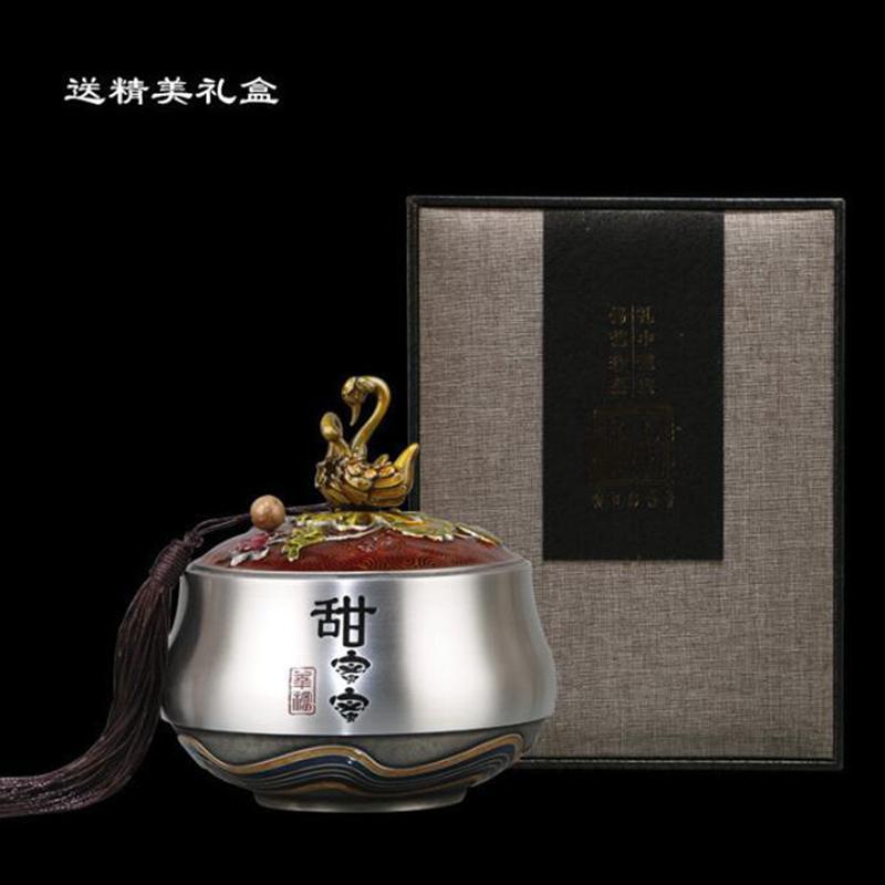 茶道茶具茶叶罐礼品摆件 锡器茶叶罐纯锡器具工艺品批发定制