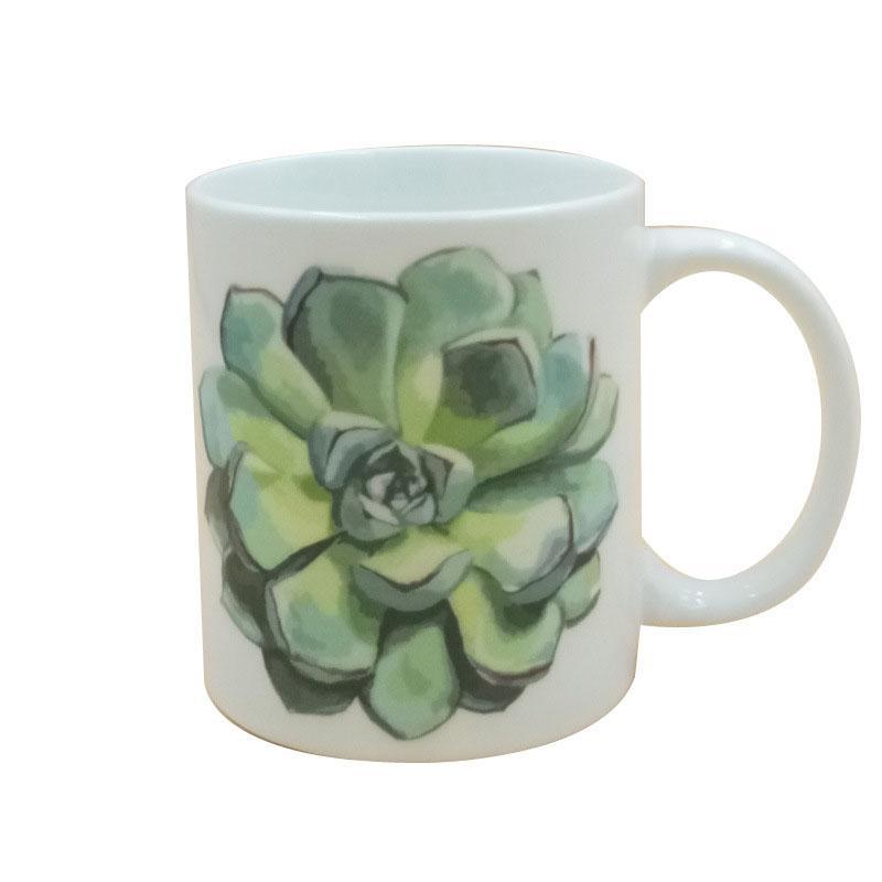 爆款多肉创意陶瓷马克杯 水杯 陶瓷杯定制广告礼品杯 加LOGO定制