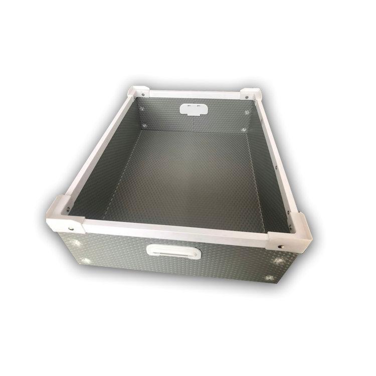 骨架箱 PP周转包装箱 塑料折叠箱 海天
