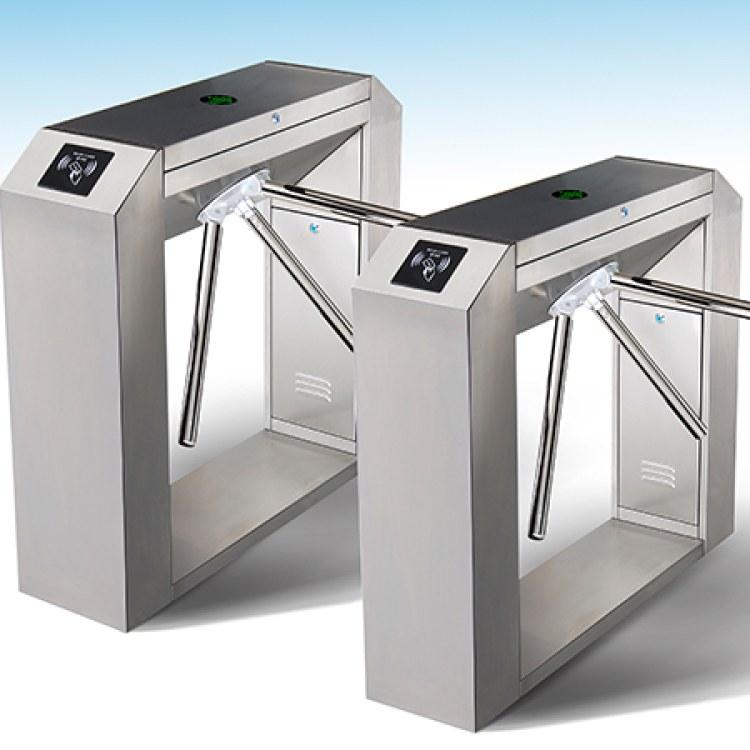 工地小区用三辊闸-可装门禁系统可接LED屏幕等
