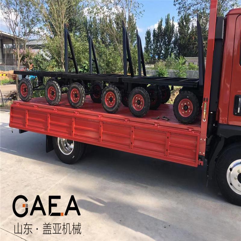 6吨平板车平盘拖车图片