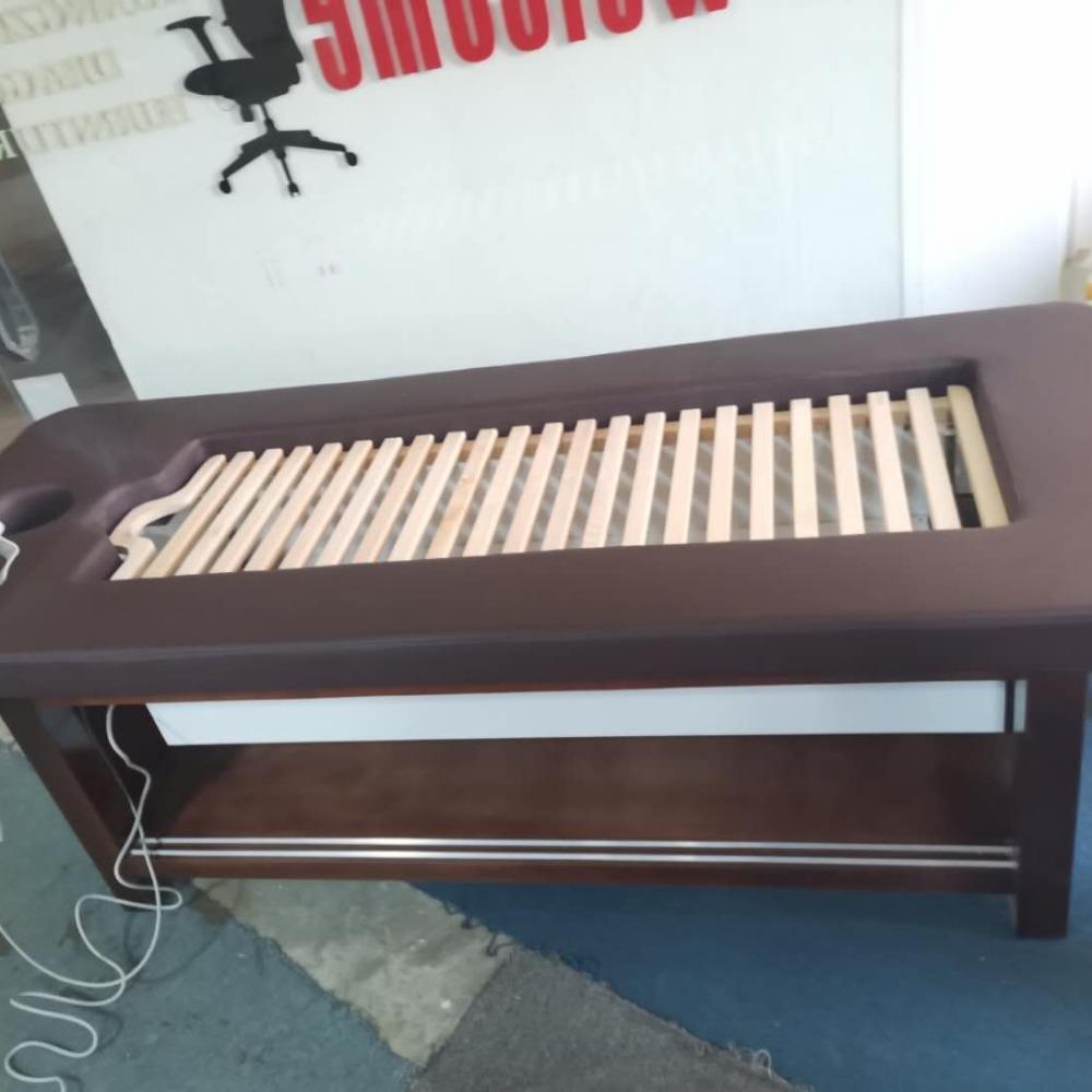 豪匠HJ广州厂家定制有烟艾灸床 实木 新自动点火艾灸床 理疗床
