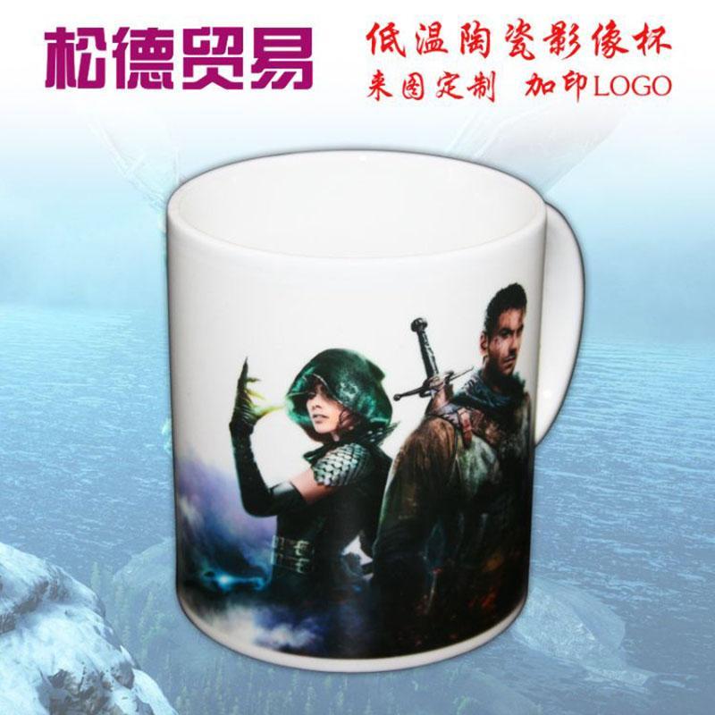 定制广告创意礼品杯 陶瓷动漫游戏水杯 定制LOGO 量身定做