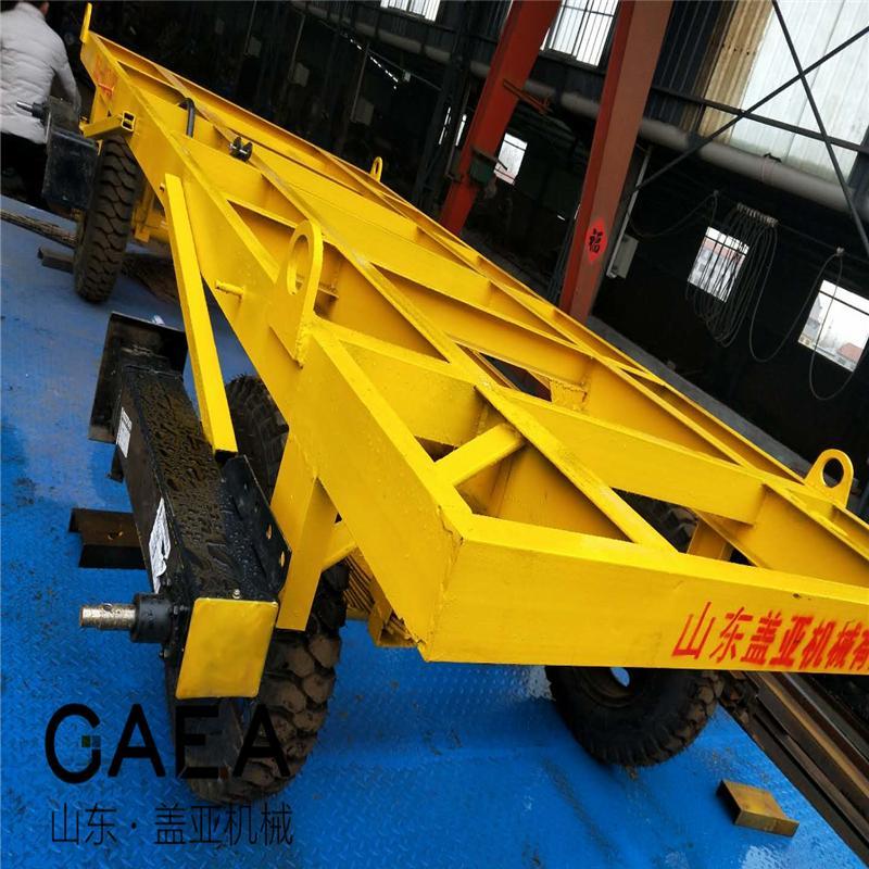 1吨牵引车小型厂区平板拖车图片