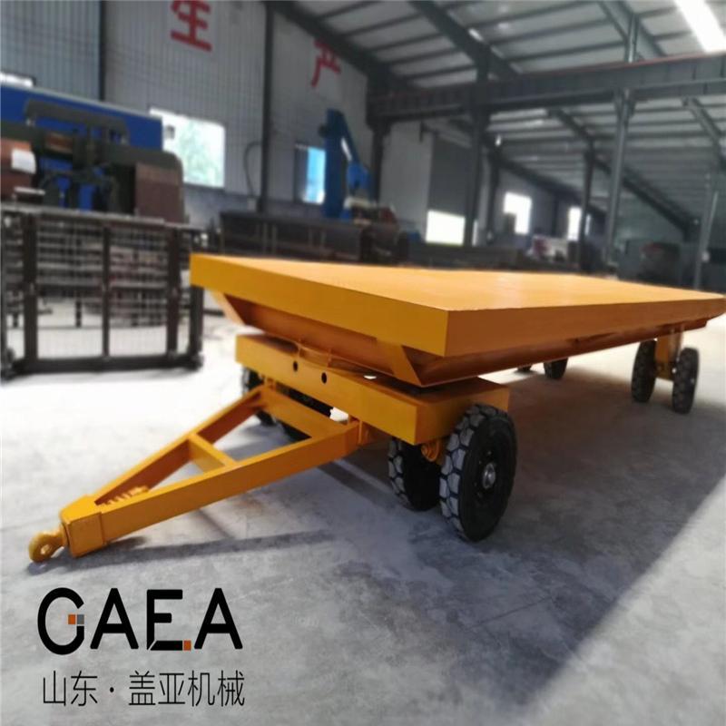 盖亚机械长期供应串联平板车 厂区牵引拖车 仓库运输车 支持非标定做