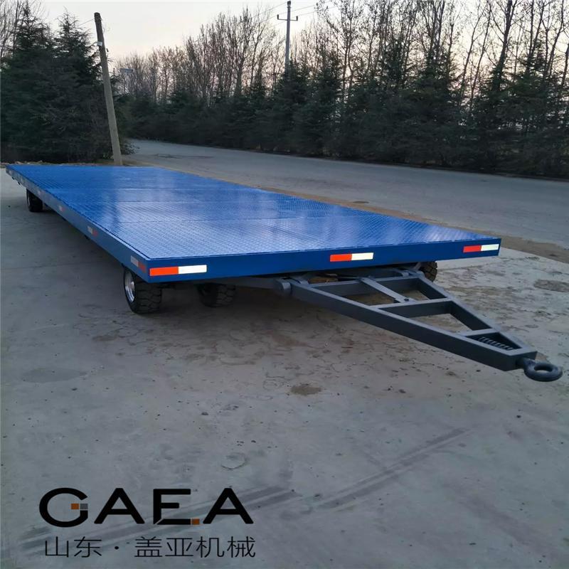 2吨平板拖车牵引平板拖车厂家
