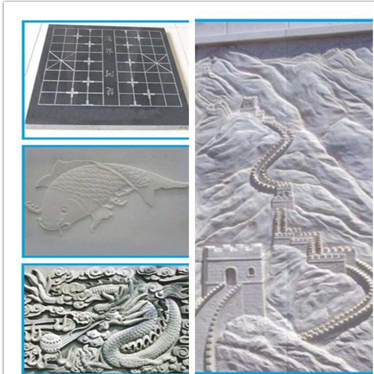墓碑雕刻机 泓旭数控重型石材雕刻机厂家 多功能立体背景墙浮雕机