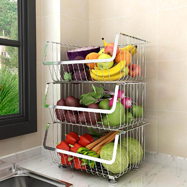 厨房置物架家用落地多层收纳架