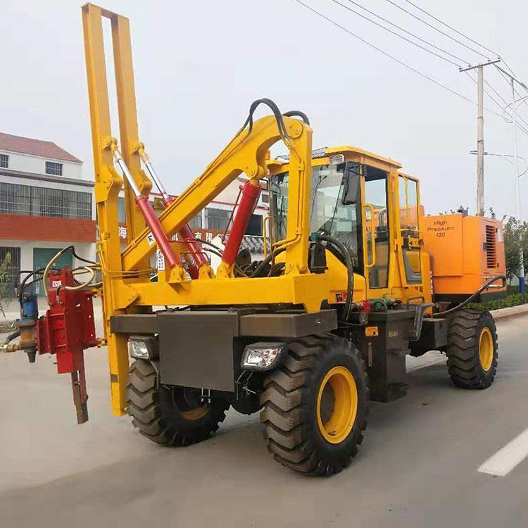 公路专用打桩机 360锤头波形护栏打桩钻孔机 山东鼎盛厂家直供