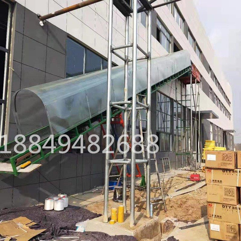 二楼仓库装卸车输送机 悬挂流水线 皮带输送线