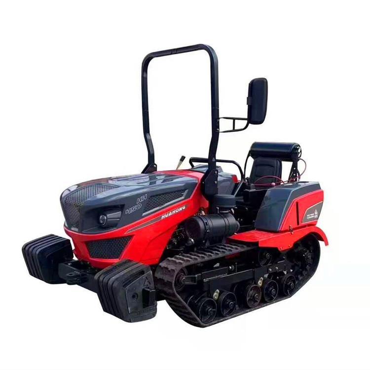 秸秆粉碎还田机 多功能履带式旋耕机 8档农用拖拉机 各种农具可搭配使用 开荒除草设备果园施肥机