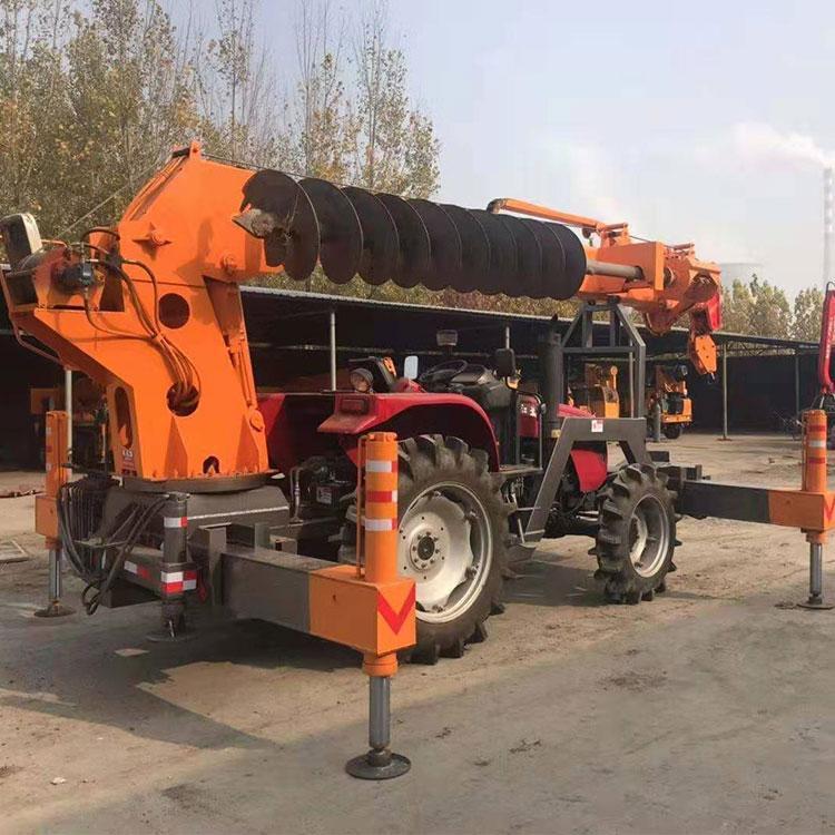 全液压拖拉机吊 热销8吨吊钻一体 小型农用拖拉机吊
