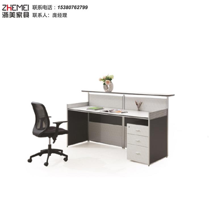 单人位办公前台-文员写字前台财务电脑桌办公家具-迎宾台咨询服务台