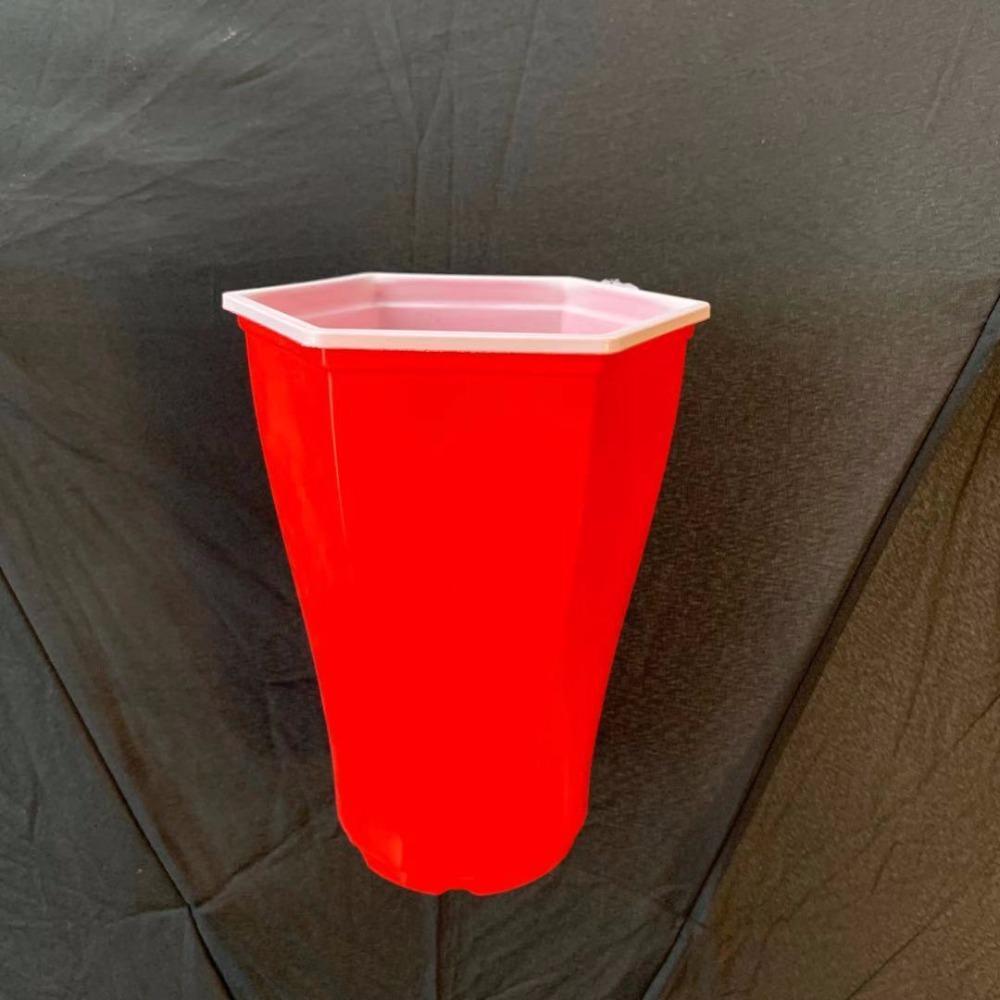 红白双色pp六角杯 pp一次性红白六角杯