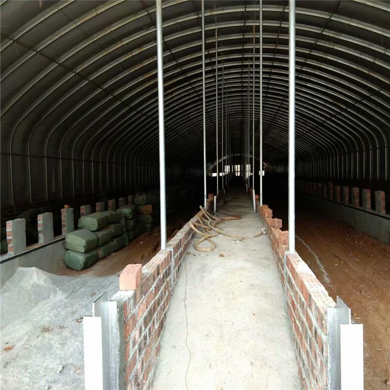 厂家直销鸡鸭鹅鸽子养殖大棚 蔬菜大棚骨架定做生产