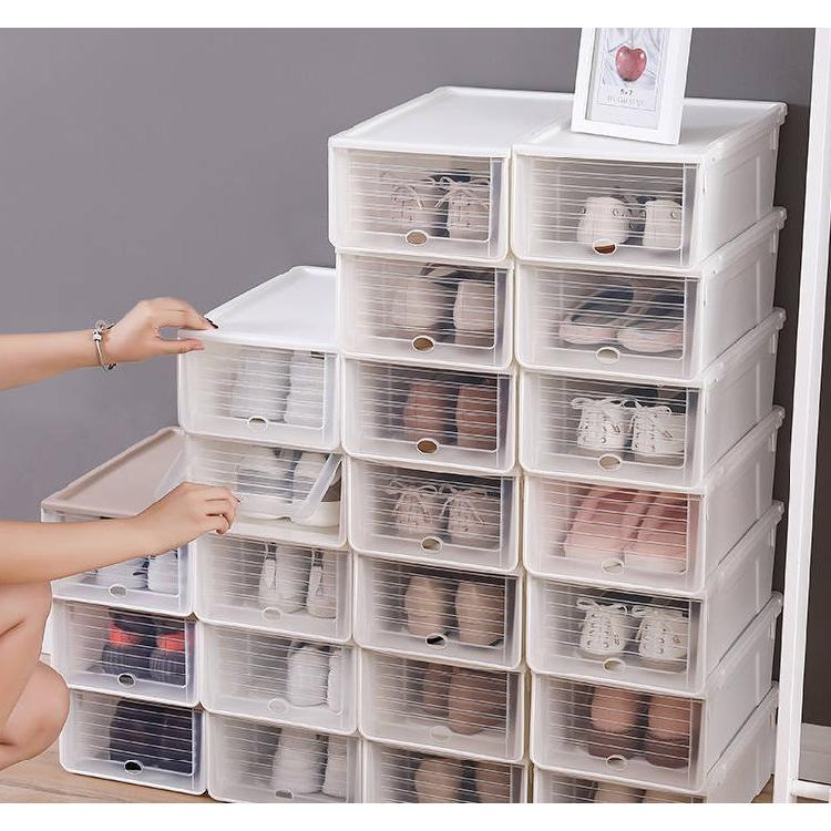 塑料鞋盒套装可叠加收纳盒防尘防潮