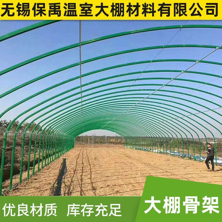 保禹厂家直销单体蔬菜农用大棚骨架草莓温室大棚骨架批发