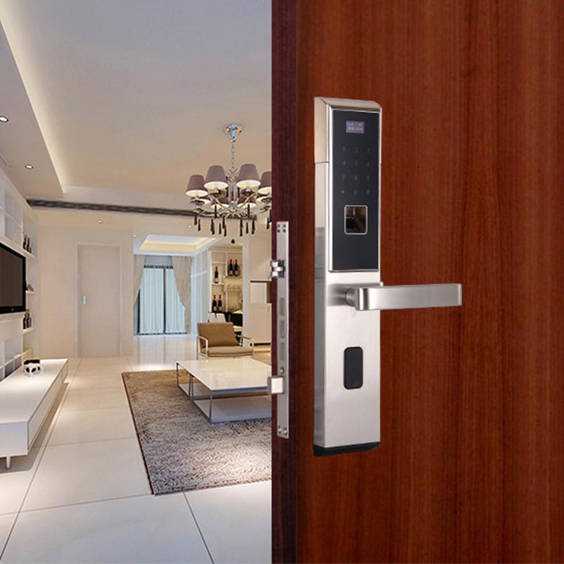 304不锈钢锁蓝牙锁指纹锁密码锁电子锁智能防盗门锁家用锁