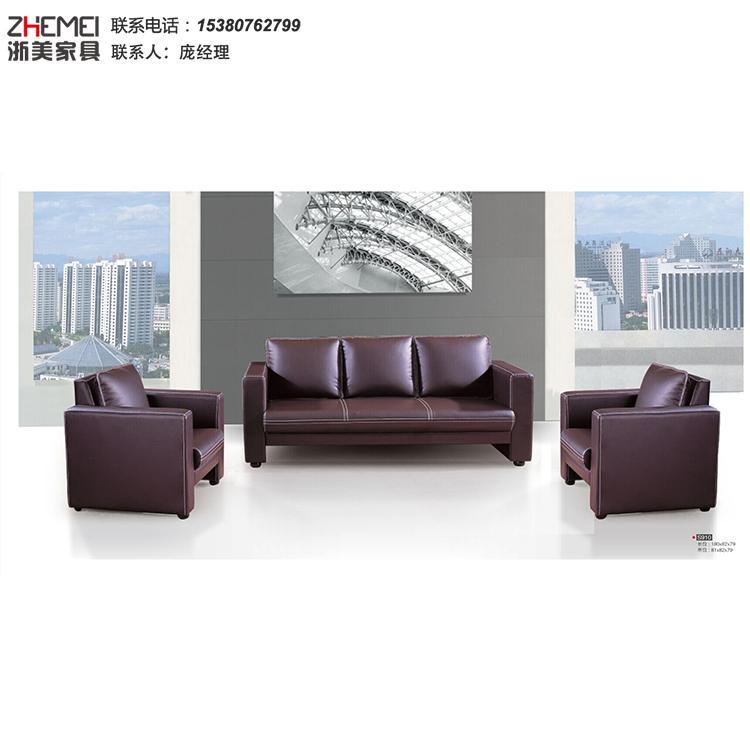 南京办公沙发公司-办公沙发现代简约-商务会客洽谈接待茶几组合