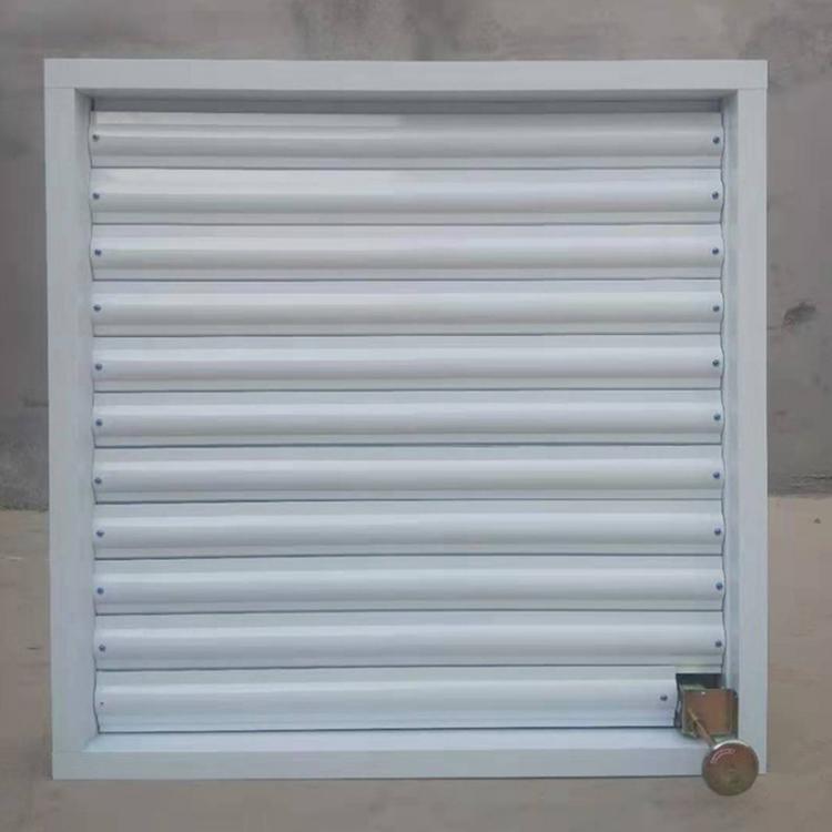 昊博锌合金百叶窗 铝合金护栏锌钢百叶窗厂家