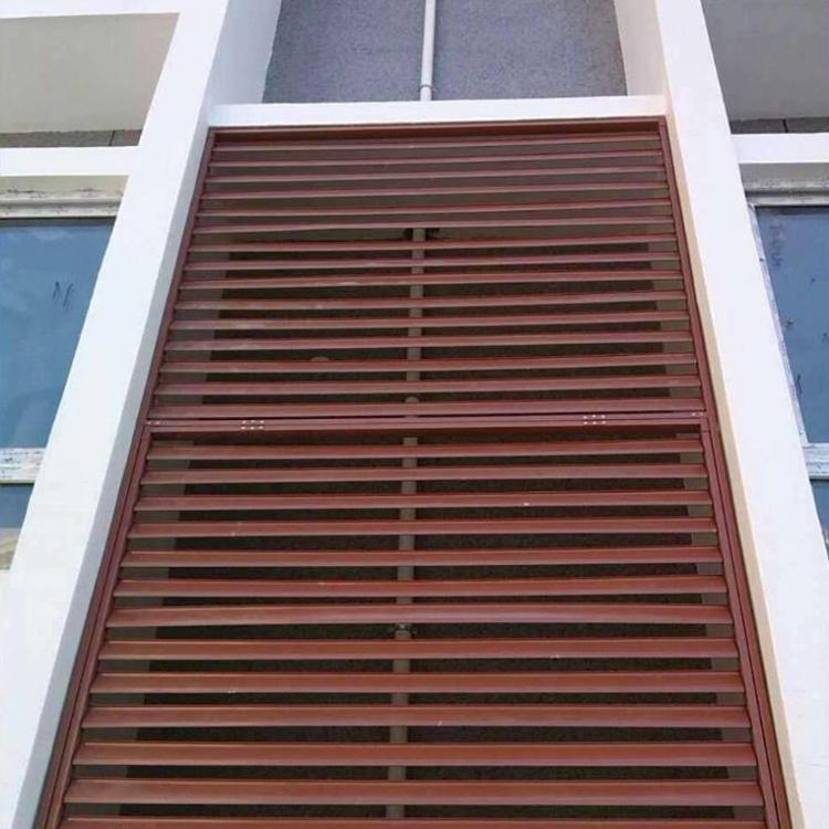 昊博锌合金外墙装饰防雨百叶窗 锌钢百叶窗价格