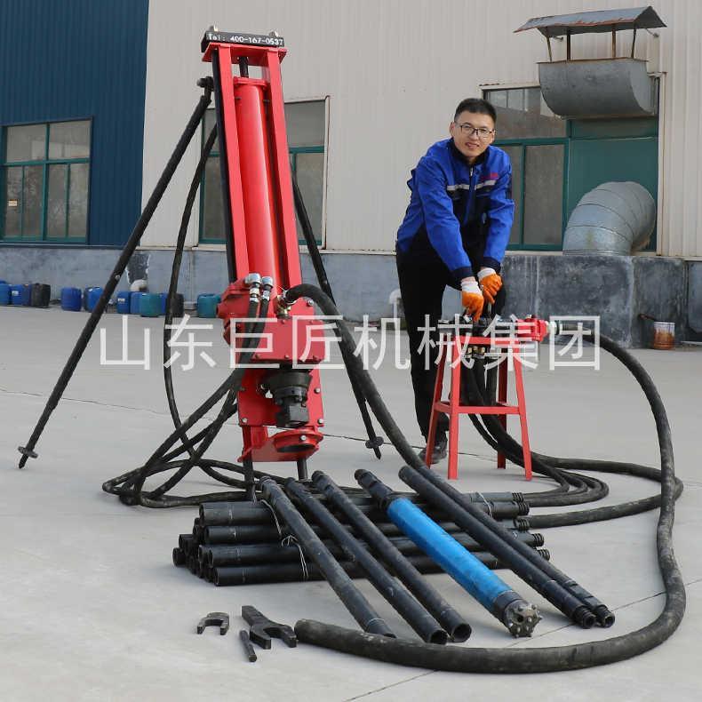 巨匠供应冲击回转100型支架式纯气动潜孔钻机