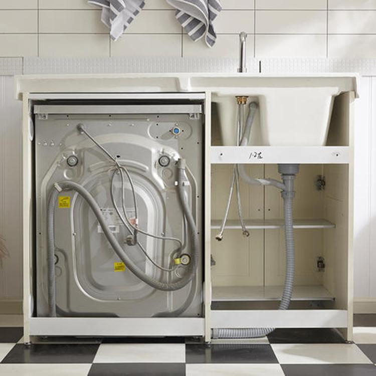 全铝洗衣机柜 腾鑫鸿伟家居 新款防水防潮阳台带搓衣板全铝洗衣机柜