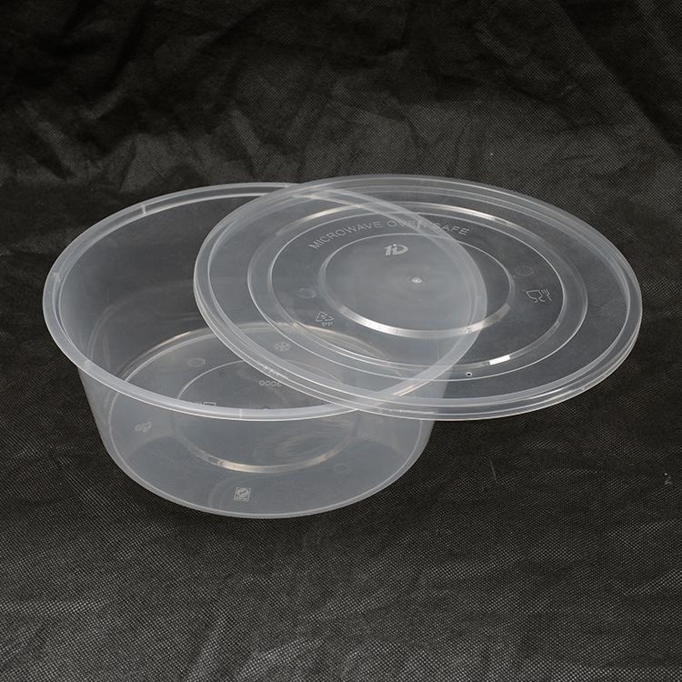 圆形一次性碗 便当盒 外卖打包盒 快餐盒 汤碗透明塑料盒带盖