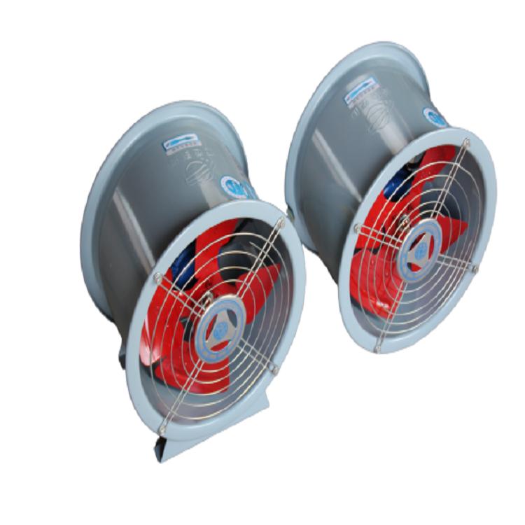 HTF-II型双速消防排烟风机 山东亚通生产耐高温 大功率轴流排烟风机
