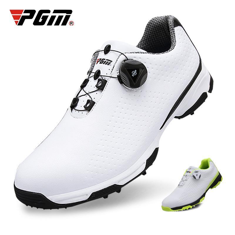 PGM 高尔夫球鞋品牌鞋子 男士球鞋 夏季运动鞋 旋转鞋带鞋 透气防水 厂家直销 XZ095