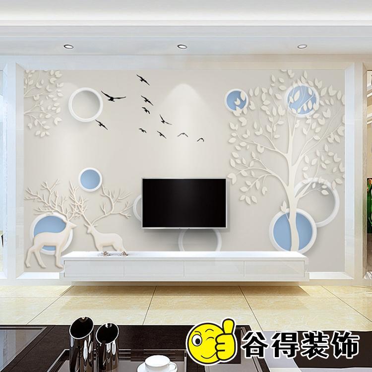 中式装修背景墙 谷得背景墙公司 室内背景墙设计