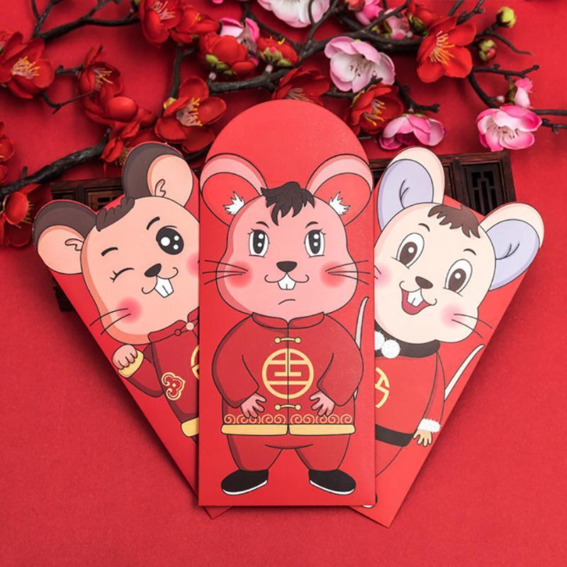 无锡新年国潮红包袋 千元卡通 鼠年生肖 过年红包2020烫金厂家印刷定做