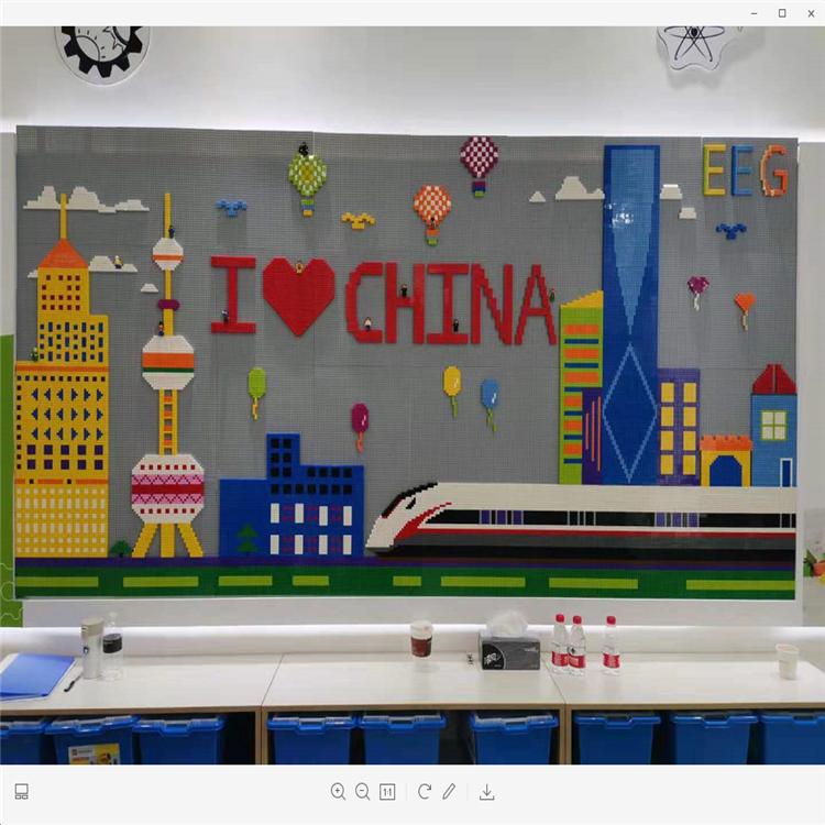 幼儿园儿童玩具 墙面积木 新型墙面积木 儿童益智玩具 博康厂家