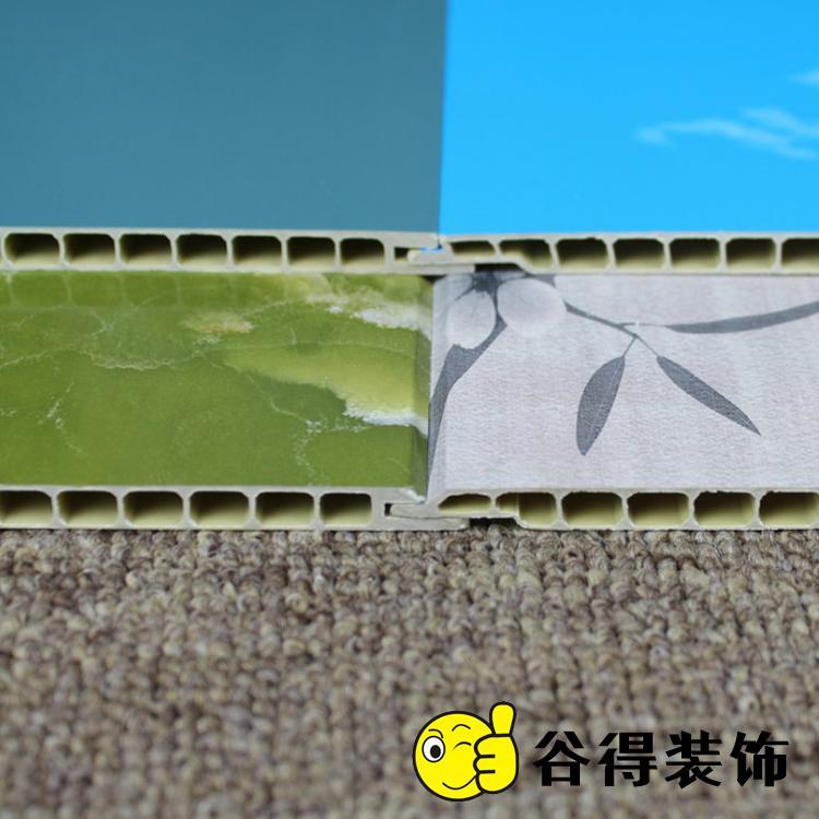 300厘石塑护墙板厂 谷得石塑墙板