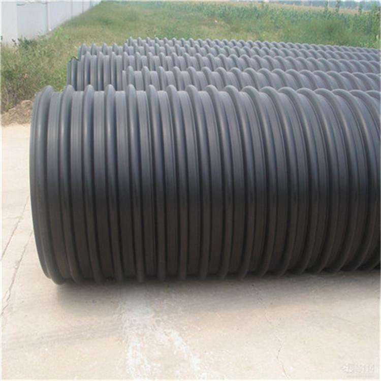 呈飞管业 直销市政工程排水钢带增强聚乙烯螺旋波纹管 钢丝网骨架