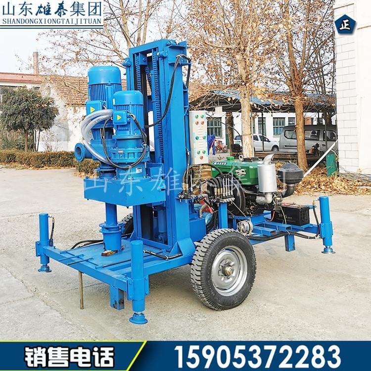 新型SJZ-500F柴油液压打井钻机 小型矿用水井钻机 反循环动力足