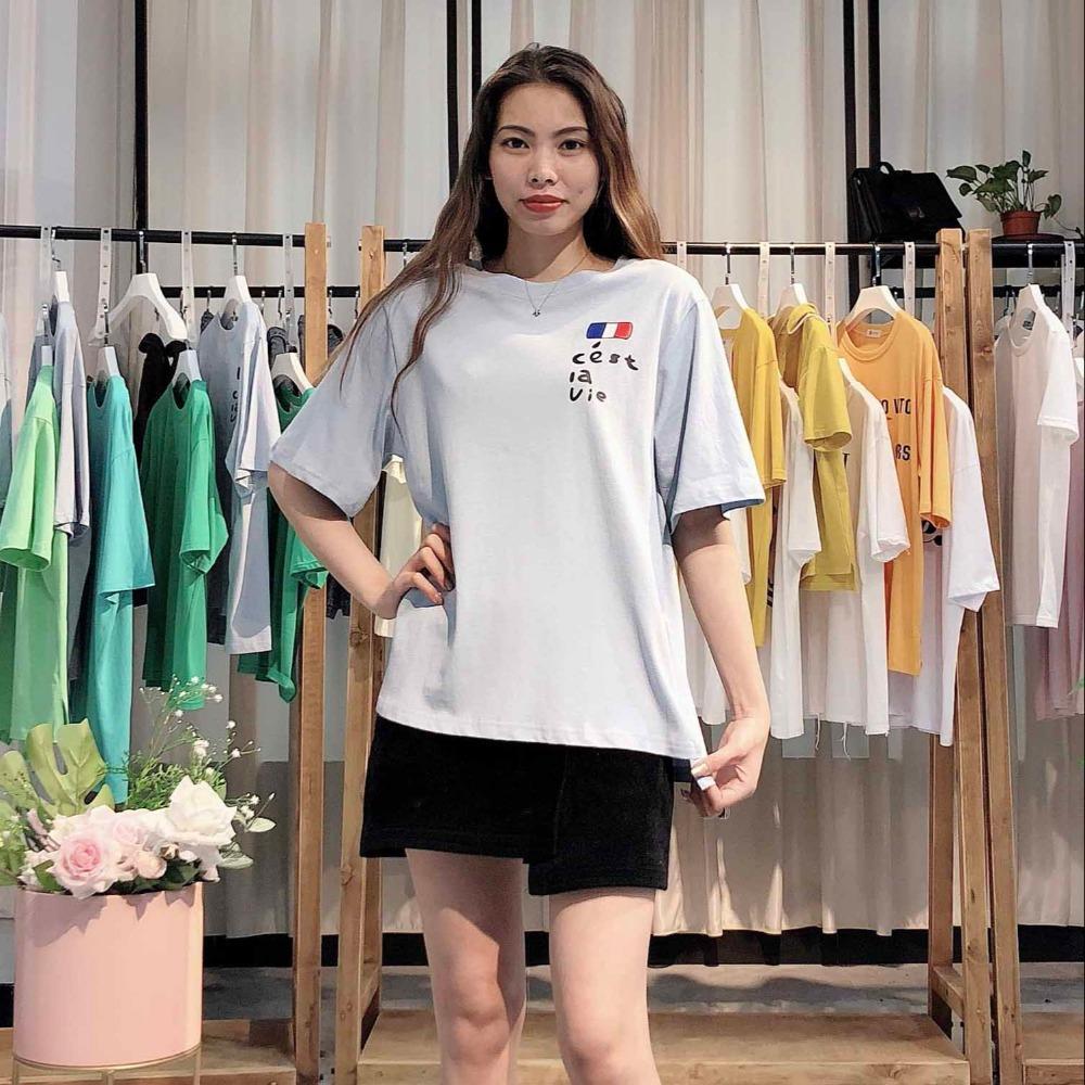 [小米街]2020年春装新款长袖t恤宽松女装品牌折扣一手货源批发