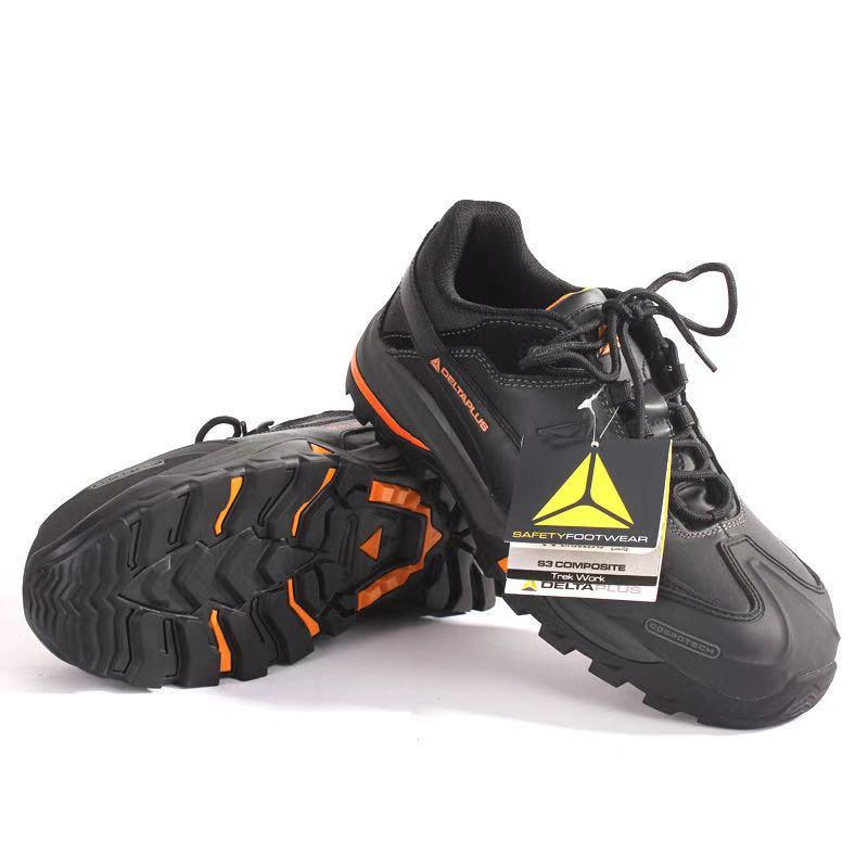 DELTAPLUS/代尔塔301335防砸防刺穿耐油酸碱耐磨防滑钢头劳保鞋代理批发