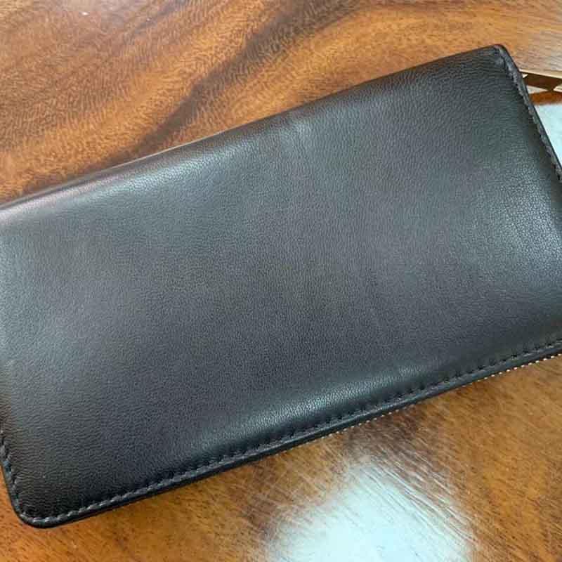商务礼品定制长款皮革钱夹商务男士拉链钱包可印logo