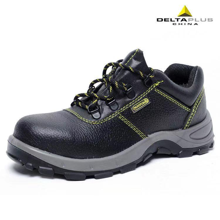 四川成都代尔塔301102多功能防护安全鞋防刺穿劳保黑皮鞋代理批发